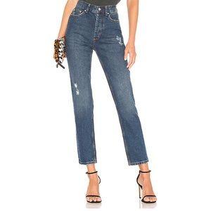 Anine  Bing Peyton high waist cropped jeans